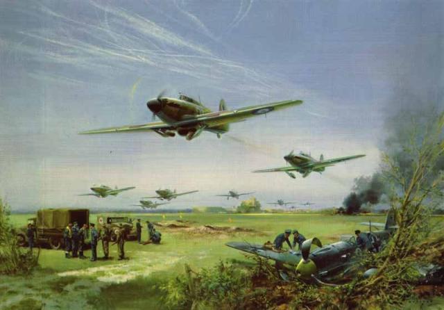 二战时期部分飞机绘画图片